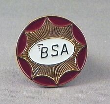 Metal Enamel Pin Badge Brooch BSA Logo Circle Bike Motorbike Gold