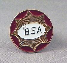 Metal Enamel Pin Badge Brooch BSA Logo Circle Bike Motorbike Gold