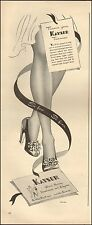 1943 Vintage ad for Keyser Gloves, Hosiery`art photo sexy Legs (121516)