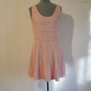 Cotton On Women's Size M Short Sleeve Fit & Flare Style Pink Dress P28