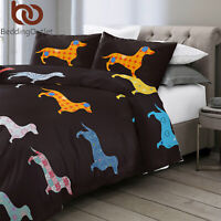 Kids Gift Duvet Cover Set for Comforter Pillowshams Twin Animal Print Bedding