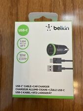 Belkin Usb-C Type Car Charger Type-C Cable For Smartphone Tablets Universal
