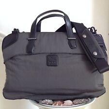 TUMI Virtue Leather Trim Victory Slim Laptop Business Brief Briefcase Bag Gray