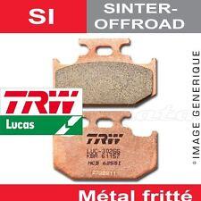 Plaquettes de frein Avant TRW Lucas MCB 539 SI pour Gilera 250 Oregon Quad 07-
