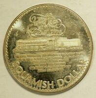 1979 British Columbia Squamish $1 Dollar 39 mm Nickel-Silver Locomotive  #4282