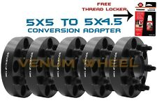 "5pc Jeep Conversion Adapter 1.25"" Converts New Wheels 5x5 To 5x4.5 Old Wheels"