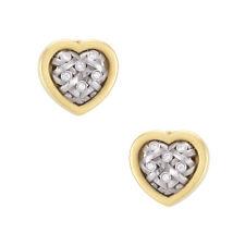 Kieselstein Cord Heart Diamond Weave Earrings Estate 18k Gold Fine Jewelry