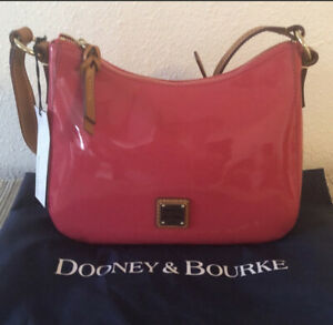 Dooney Bourke Small Kiley Patent Leather Hot Pink