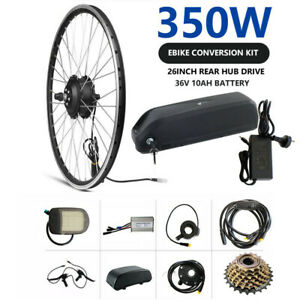 TDR 26'' EBIKE CONVERSION KIT 350W REAR HUB ELECTRIC BIKE 10AH LITHIUM BATTERY
