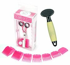 Scaredy Cut Silent Pet Clipper with Conair Dog Soft Slicker with Memory Gel Grip