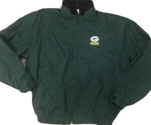 Vintage Antigua Antech Green Bay Packers Full Zip Jacket Vented Fleece Lined M