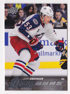 15-16 Upper Deck Josh Anderson Young Guns Rookie Canadiens RC 2015