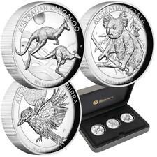 Australien - 3 x 1 Dollar 2018 - Kookaburra - Känguru - Koala - 3x1 Oz Silber PP