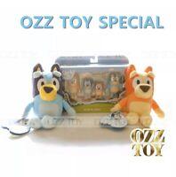 2 Plush BLUEY & BINGO + 4 Pack Family Figure Figurine Set Toy ❤ OZZ TOY