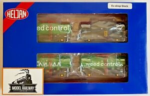 HELJAN 00 GAUGE - 170B - CHIPMAS WEEDKILLER A TANK TANKERS X 4 PACK - NEW BOXED