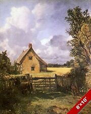 ENGLISH COTTAGE COUNTRYSIDE ENGLAND LANDSCAPE ART PAINTING REAL CANVAS PRINT