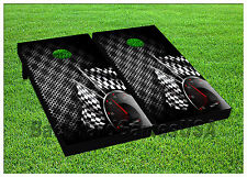 VINYL WRAPS Car Racing Flags Cornhole Boards DECALS  BagToss Game Stickers 532