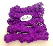 """Pack of 5 Haynets strong  rings 40"""" large holes purple on sale price"""