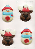 Snowman and Reindeer Chocolate Mould / Christmas Mould