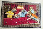"""Dogs Playing Pool Cotton 58"""" by 37"""" Tapestry Made in Turkey"""