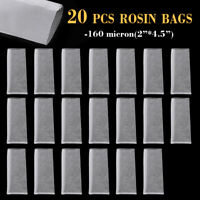 "20pcs 2'' x 4.5"" Nylon Rosin Resin Extraction Filter Press Bag Screen Mesh -AU"