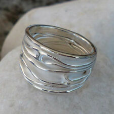Unbehandelte Ringe ohne Steine aus echtem Edelmetall 56 (7 mm Ø)