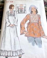 LOVELY VTG 1970s DRESS & TUNIC BUTTERICK Sewing Pattern BUST 29 FF