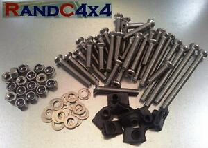 1133 Land Rover Defender 110 County Stainless Steel 4 Door Hinge Bolts kit CSW
