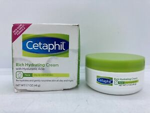 Cetaphil Rich Hydrating Cream w/ Hyaluronic Acid 1.7 oz Dry to Normal Skin