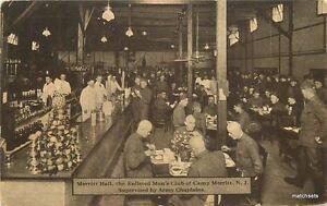 C-1918 Military Merritt Hall interior Camp New Jersey postcard 6111