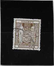 NOUVELLE ZELANDE fiscaux postaux N°65B  OBLITERE COTE 200 €