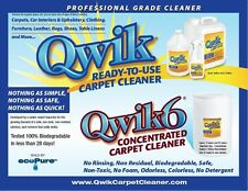 Qwik 6 Concentrated Carpet Cleaner - One gallon bottle - Non toxic & no residue