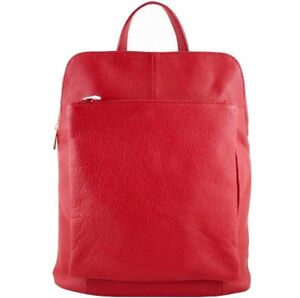 Genuine Leather backpack Bottega Carele BC704. Made in Italy. 14 colors.