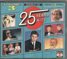 COFFRET 2 CD COMPIL 28 TITRES--25 YEARS HITS VOL 3--CHARLES/ANKA/DOLAN/LAI/PEARS