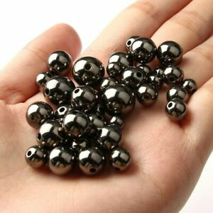 30/500pcs Gold Silver Spacer Beads Big Large Hole Bead DIY Fashion Jewelry Makin