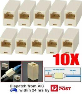 10 PCS Network Ethernet Lan Cable Joiner Coupler Plug Connector RJ45 CAT 5 5E
