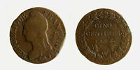 s1544_136) FRANCIA 5 CENTIMES L'AN 5  W LILLE - DEFECT