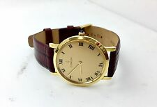 Corum 18k Gold Genuine Lizard Band Watch Fashion Vintage Jewelry Designer