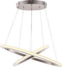 Oval LED Ceiling Light Nickel Matt Pendant Chandelier Dining Living Room Lounge