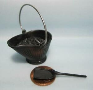 REMCO FIREPLACE Vintage Dollhouse Furniture Miniature 1:16 Coal Bucket/Shovel