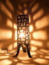 Lampe design en métal ajouré Marcello FANTONI FIRENZE Brutalisme 1960's