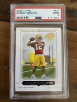 2005 TOPPS Aaron Rodgers #431 GREEN BAY PACKERS ROOKIE RC PSA 9 GEM MINT