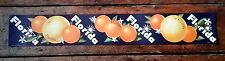 Vintage grocery general store Florida oranges banner poster advertising litho