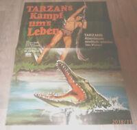 A1-Filmplakat   TARZANS KAMPF UMS LEBEN  , GORDON SCOTT