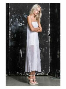 BNWT Religion Stern Maxi Dress RRP £125 Optic White    SH14
