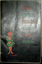 COUNT PALMIRO VICARION (Christopher Logue) BOOK of BAWDY BALLADS Olympia Press