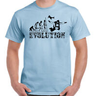 Skydiving T-Shirt Mens Evolution Funny Free Fall Parachuting Skydiver Skydive