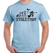 Fallschirmspringen T-Shirt Herren Evolution Lustig Free Fall Skydiver