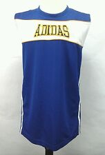 Adidas Basketball Women's Reversible Blue White Stripes Jersey Tank Top  Large