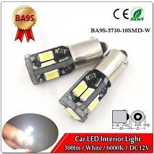 10Pcs T11 T4W H6W 1895 1445 CANBUS BA9S 5730 10SMD ERROR Free LED Light Bulb 12V